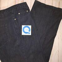 QVC Isaac Mizrahi Live Women's Plus 24W Jean Wide Leg Flare w/ Tummy Control
