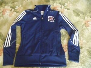 WOMENS ADIDAS TRACK JACKET CHICAGO FIRE FC MLS SOCCER CLUB FOOTBALL zip up
