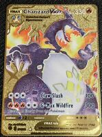 Pokemon Shiny Star V Charizard VMAX CUSTOM GOLD Metal Card