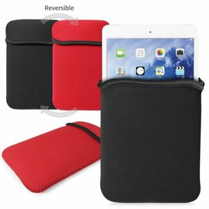 iPad Mini 1 and 2 Neoprene Sleeve Reversible Black and Red by Flexfirm