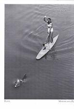 """*Postcard-""""Flippy""""..Pulls Surboard w/GIrl/Dog-1951- *Marineland, Florida  (#246)"""