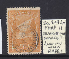 New listing Tasmania: 4d Orange/Yellow Pictorial Sg 247da Wmk Ca Inverted Perf 11 Used And
