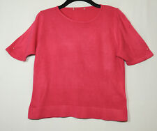 PINK FREESIA LADIES CASUAL KNITTED TOP SIZE 14 M&S STRETCH