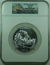 2010 Yosemite California State 25c Quarter 5 Oz Silver Coin NGC MS-69 Early R