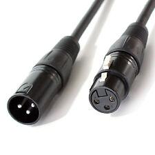 5x 1m -3 Pin XLR Male to Female DMX Lighting Cable -DJ Gig LED Signal Light Lead