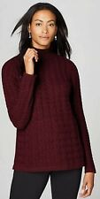 J. Jill Cabled Turtleneck Sweater Size S