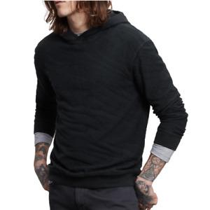 John Varvatos Star USA Men's Huntsville Clawed Pattern Pullover Hoodie Indigo