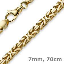 7mm Königskette aus 585 Gold Gelbgold Kette Halskette 70cm Herren, Goldkette