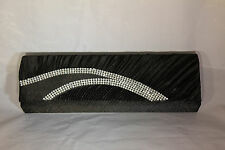 Beautiful Black Evening Clutch Purse with Rhinestone Rainbow EB1110 287