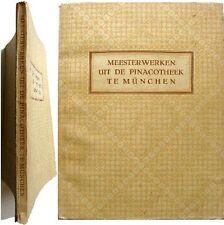 Meesterwerken uit de oude pinacotheek München 1948 Rijskmuseum peinture flamande