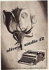 OLIVETTI STUDIO 42 IVREA MACCHINA DA SRIVERE LETTERE TIMBRI POSTE BARD  1942