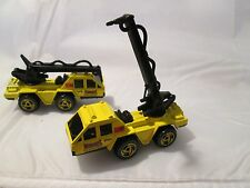 1996 FLAME STOPPER city of hot wheels CRANE STUNT  1/64 FIRE SQUAD SERIES #3