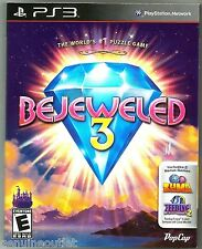 PS3 BEJEWELED 3 for PS3 with 2 Bonus Games SEALED NEW