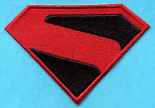 "3"" x 4"" Small Embroidered Red & Black Superman Kingdom Come  Logo Patch"