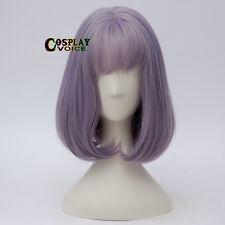 Synthetic 35cm Wavy Light Purple Fancy Party Lolita Short Women Girl Cosplay Wig