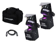 2 x Rodillo de fusión Equinox Max 30W barril escáner LED DMX Efecto de Iluminación