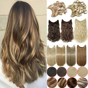 Halo Invisible Secret Wire Hair In No Clip Synthetic Hair Extensions Brwon Blond
