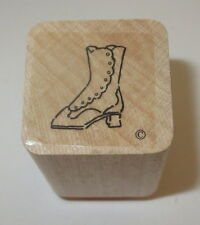 Victorian Boot Rubber Stamp Close To My Heart Wood Mounted