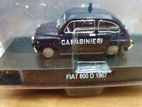 Fiat 600 D 1967 Carabinieri - Scala 1:43 - Atlas - Nuovo