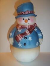 Fenton Glass Snowman Fairy Light Lamp Patriotic Stars & Stripes LE GSE #6 of 6