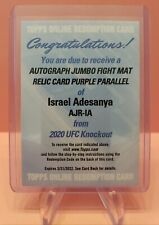 REDEEMED Redemption Card Only 2020 Topps UFC Israel Adesanya Knockout Auto Jumbo