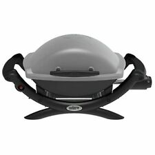 weber q propane portable gas grill table top titanium new
