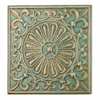 "Regal Art & Gift Glazed Wall Decor 15"" - Green Fleur De Lis"
