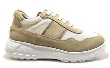 KEYS K 800 YELLOW scarpe donna sneakers beige zeppa pelle tessuto tacco casual
