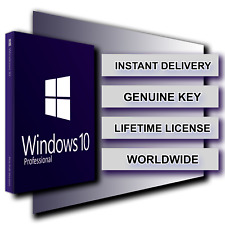 INSTANT WINDOWS 10 PRO PROFESSIONAL 32 / 64 ACTIVATION LICENSE KEY DIGITAL CODE