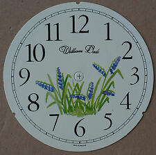 5.3/4 inch FLORAL CLOCK DIAL OF GRAPE HYACINTHS
