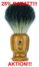 Vie-Long Badger Shaving Brush Large 0 15/16in Olive Wood High Quality Made in