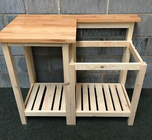 Solid Wood Unit & Pine  Top For Belfast Sink , Large Drainer Simple Practical