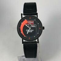 Vintage Marlboro Racing Team Mens Black Leather Band Quartz Watch