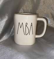 "New RAE DUNN Ivory Artisan Collection LL ""MBA"" Mug By Magenta"