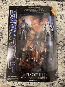 Star Wars Blu-Ray Commemorative figure set Episode II Attack of the Clones