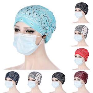 Damen Turban Krebs Chemo Mütze Kopftuch Haarschmuck Kappe Beanie Kopfbedeckung