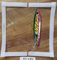 """#15-8.5""""x 8.5=4x8 usable Large Spinner Bait type tackle cover &pole wrap CLEAR"""