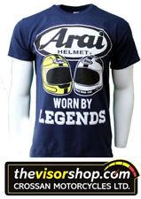 Arai GILDAN HEAVY COTTON T-Shirt NAVY -Joey & Robert Dunlop Legends- 4XL XXXXL