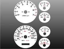 1996-1998 Jeep Grand Cherokee Dash Cluster White Face Gauges 96-98