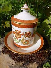 Ancien pot couvert en porcelaine décor dragon cheval personnage Asiatique ...