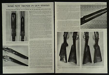 New Trends In Gun Stocks Monte Carlo Beavertail Rudy Etchen 1963 2 Page Article