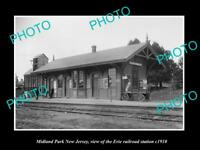 OLD LARGE HISTORIC PHOTO OF MIDLAND PARK NEW JERSEY ERIE RAILROAD STATION 1910 2
