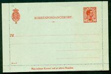 DENMARK 10ore #35I Letter card (26) unused, INVERTED WMK VF