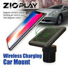 [US] Car Wireless Magnetic Fast Charger Smartphone Mount Holder Stand (Black)