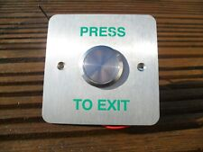 Stainless press to open / exit / door release switch, button, make or break.