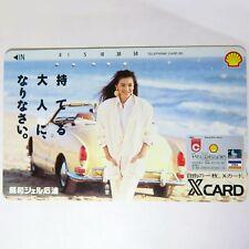 50 UNIT PHONE CARD TELECA SHELL X CARD VISA JAPAN 1990s CARS MODEL BEACH V RARE