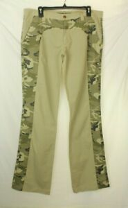 NWT Key Jey Men's Beige camo Pants Size 38 Made In Italy