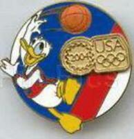 Disney Pin 31265 DLR USA Olympic Logo Basketball Donald Gold Pin-on-Pin