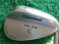 "Cleveland 588 RTX  Satin Chrome 58* Lob Wedge/FST KBS Tour steel stiff MRH 35.5"""