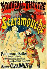 Nouveau théâtre Scaramouche pantographe ballet théâtre spectacle DECO Poster Print